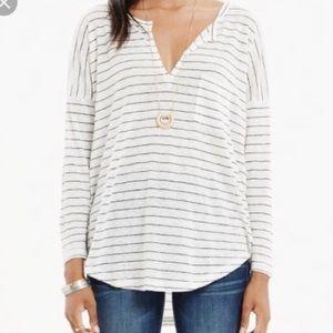 Madewell Linen Striped Telegraph T-Shirt